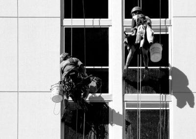 Výškové mytí oken a skel 02