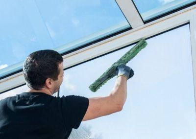 Výškové mytí oken a skel 06